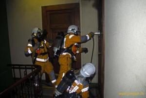 pompier porte